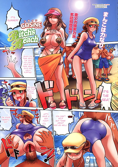 english manga Bitchs Beach, big breasts , anal