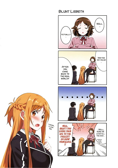 english manga Sword Art Lilycization., asuna yuuki , oberon , full color , manga