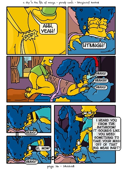 manga A Day In The Life Of Marge - part 2, milf , cheating
