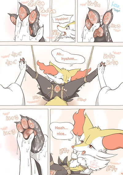 english manga Tied Flame, braixen , full color  anal